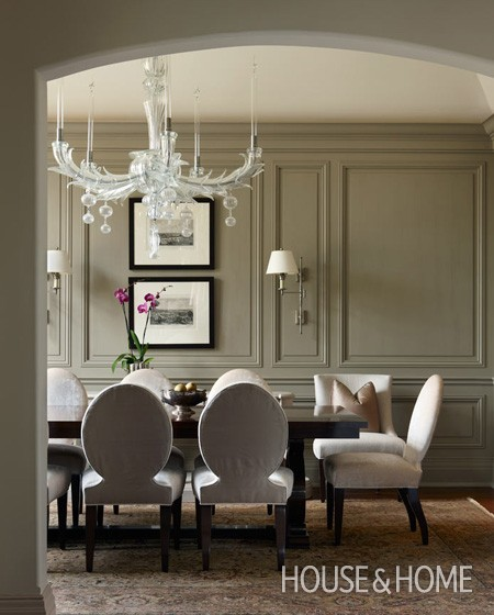 Interiors moulding paneling designed equilibrium for Dining room molding panels